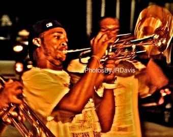Trumpet Player in NOLA (Photo on Canvas)