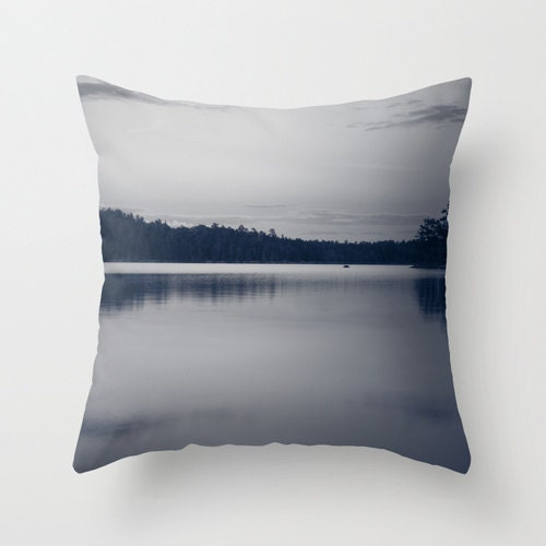 Etsy White Throw Pillow : Boundary Waters, Photo Pillow Cover, Black and White, Photography Decor, Throw Pillow Cover ...
