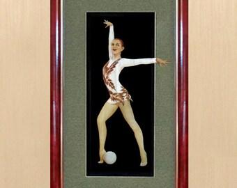 Sport, gymnastics, ball, artwork, straw, gift
