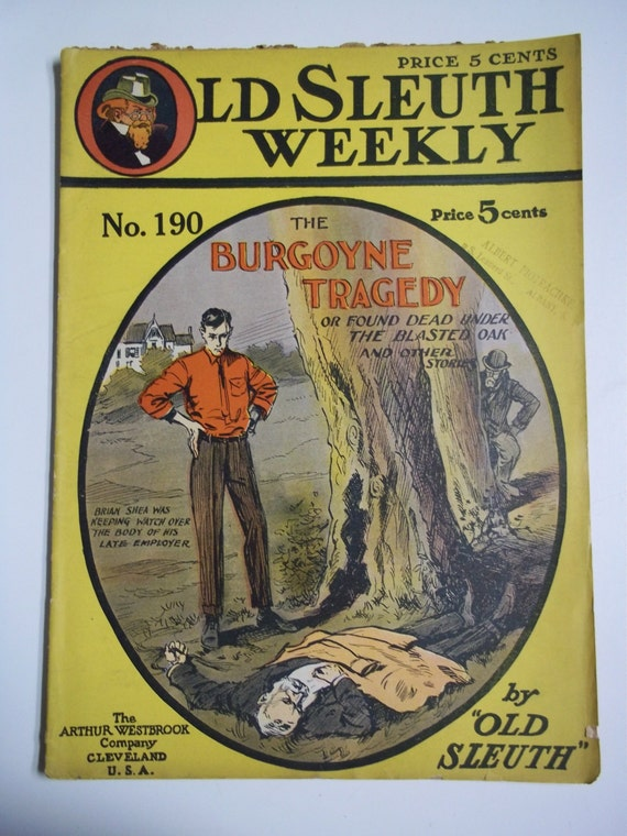 Antique Old Sleuth Weekly No. 203 May 17,1912