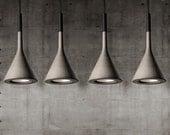 Concrete look handmade resin hanging ceiling pendant light