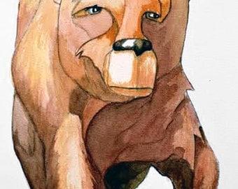 Brown Bear 5 Watercolor Painting