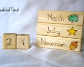 Waldorf Inspired Children's Wood Burned Perpetual Calendar ~ Teaching Calendar ~ Wood Calendar ~ Custom Calendar
