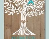 """Wedding Tree 1st Anniversary Gift, Wall Print, Engagement Gift, Wedding Gift for Couple, Print on the Art paper """" in 8,5x11 size>>>"""