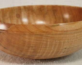 Fiddleback Maple Wood Bowl Wooden Bowl Fine Woodworking Lathe Turned Eccentric 714