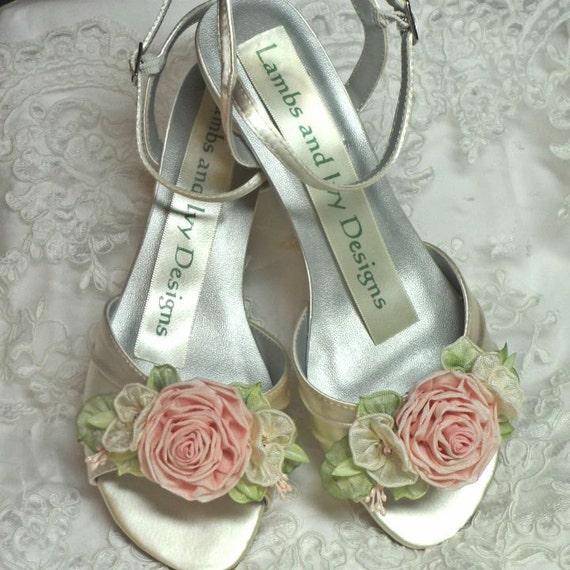 Bridal Shoes Garden Wedding: Garden Wedding Pink Rose Wedding Shoes Bridal Shoes By