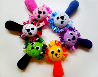 Taggie Toy / Fleece Taggie Baby Rattles