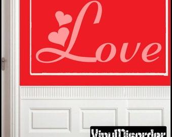 Love - Vinyl Wall Decal - Wall Quotes - Vinyl Sticker - Quotesjc002ET