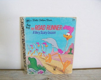 Very Scary Lesson Road Runner Little Golden Book Warner Brothers Looney Tunes 1980