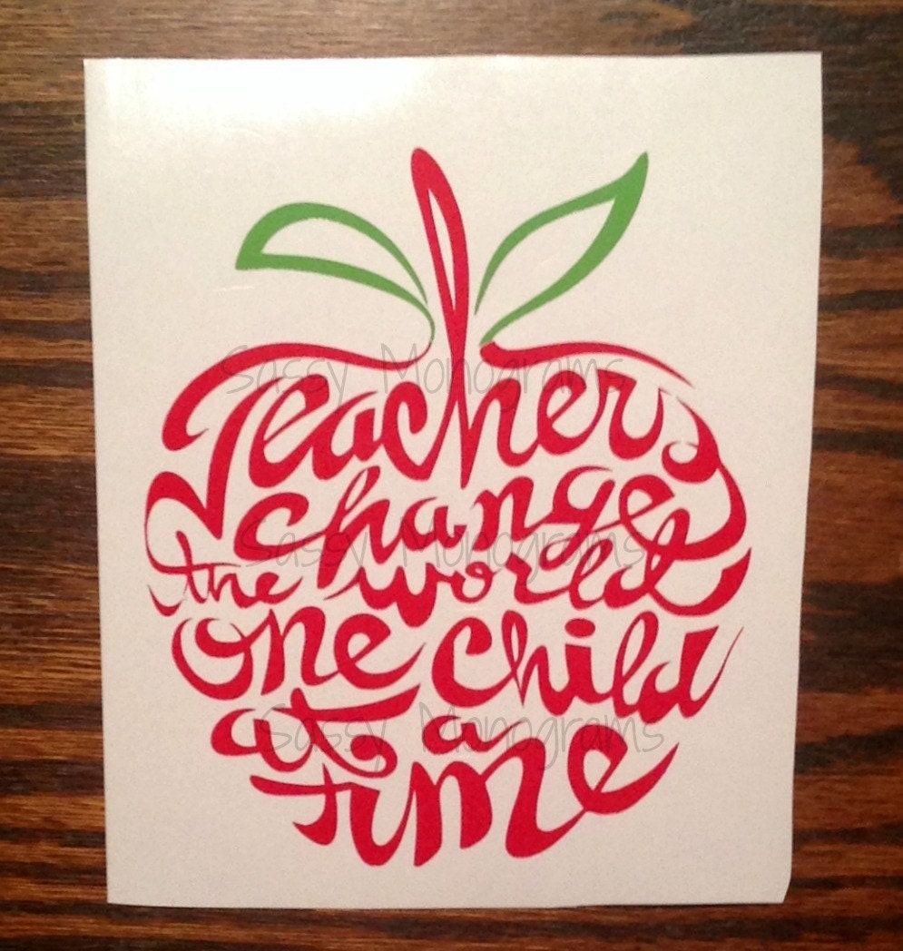 Teachers Change The World One Child At A Time Glitter Word