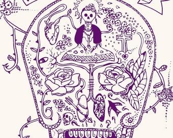 FRIDA KAHLO aquarius Limited edition zodiac sign Original