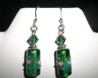 Czech Glass and Swarovski Crystal Earrings