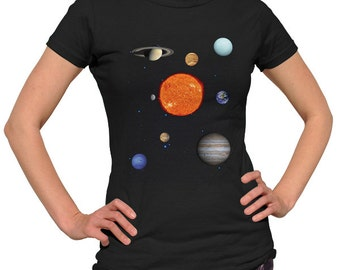 Solar System Shirt - Astronomy Shirt - Outer Space Shirt - Astronomer Gift - Space Shirt - Planet Shirt (See SIZING CHART in Item Details)