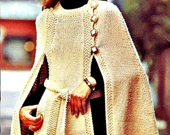 Hipster Knit Cape Pattern