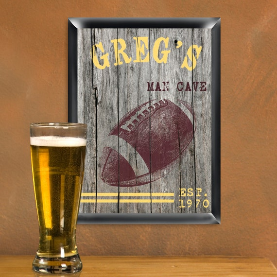 Man Cave Signs For Sale : Personalized sports man cave signs mancave sign