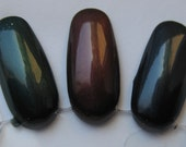 Shadow Gem Trio Dark Blackened Shimmer Custom Nail Polish Trio 15mL