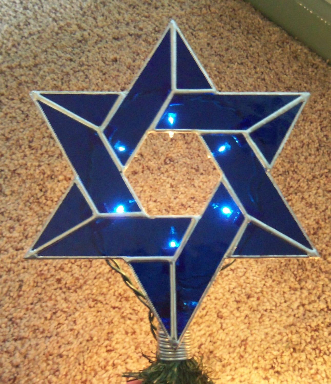 Lighted Jewish Star Of David Christmas Tree Topper Interfaith