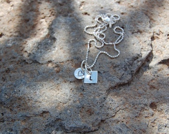 Dainty Initials Sterling Silver Necklace