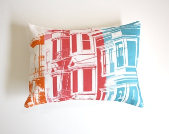 SALE - San Francisco Pillow - Urban Throw Pillow - Rainbow Pillow - San Francisco Rainbow Decorative Throw Pillow