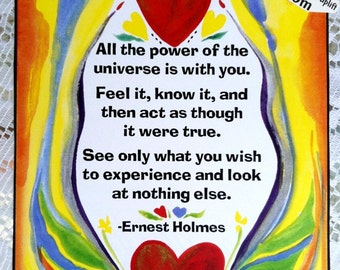 All the power ERNEST HOLMES Inspirational Quote Motivational Print Positive Spiritual Meditation Success Heartful Art by Raphaella Vaisseau