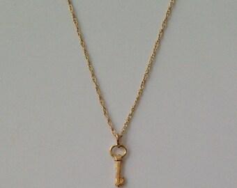 Tiny Treasure Key Charm Necklace