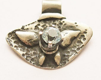 Ice Blue Butterfly with Topaz, butterfly jewelry, gemstone jewelry, december birthstone