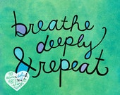 Breathe Deeply and Repeat (8x10 doodle print)