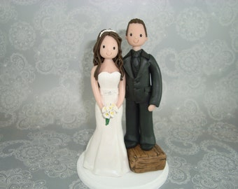 Cake Topper - Personalized Bride & Short Groom Wedding