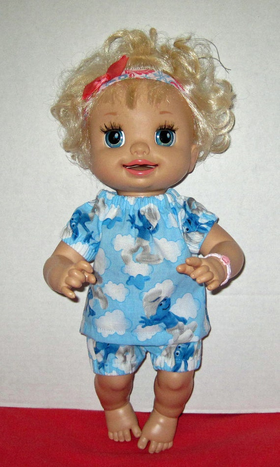 Baby Alive Smurfs Print Set Fits 16 Inch Doll by Dakocreations
