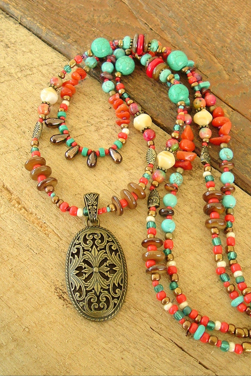 turquoise necklace southwest jewelry cowgirl jewelry tribal. Black Bedroom Furniture Sets. Home Design Ideas