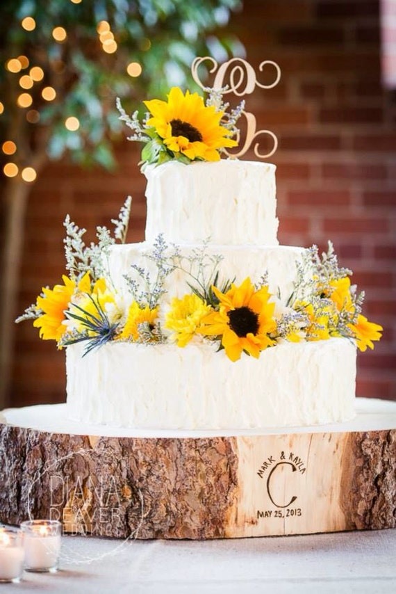 """10"""" STUMP Rustic Wood Tree Slice Wedding Cake Base - Customize for a Unique Christmas Gift!"""