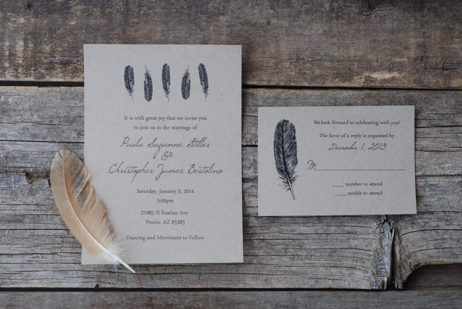 Chic Wedding Invites for great invitation sample