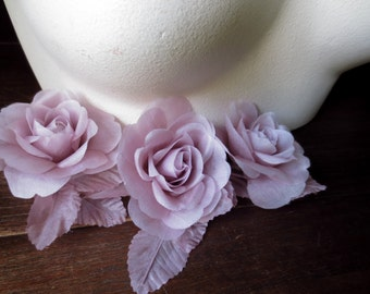 Mauve Rose Petite Silk Millinery for Bridal, Headbands, Hats, Corsages MF 105