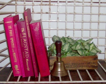 Instant Collection of 5 Crimson Vintage and Antique Books