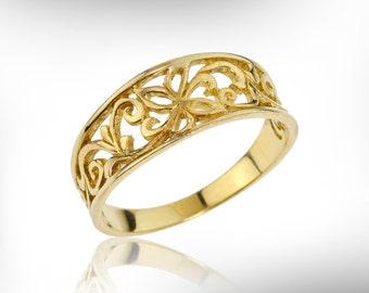 14k yellow gold wedding ring unique wedding ring women personalized wedding ring wedding - Wedding Ring For Women
