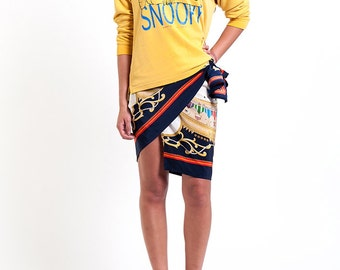 The Vintage Mustard Yellow Snoopy Long Sleeved Shirt