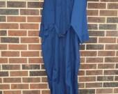 70% OFF CLEARANCE RARE Vintage Mens Coveralls 70s Jumpsuit Blue Para Trooper