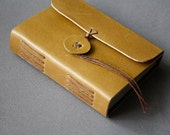 Pocket traveler - small leather journal in olive