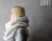 Chunky Cowl White Crochet Cowl Scarf Womens Snood Chunky Scarf Winter Scarf Knit Cowl Handmade Scarf Infinity Scarf Oversized Circle Scarf