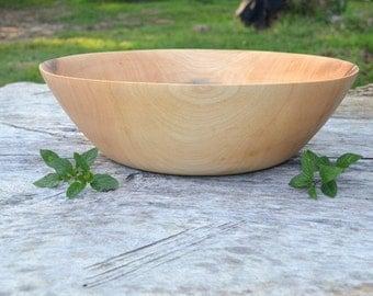 Wood Bowl Ravishing Red Maple, Salad Bowl, Fruit bowl, bread bowl, centerpiece