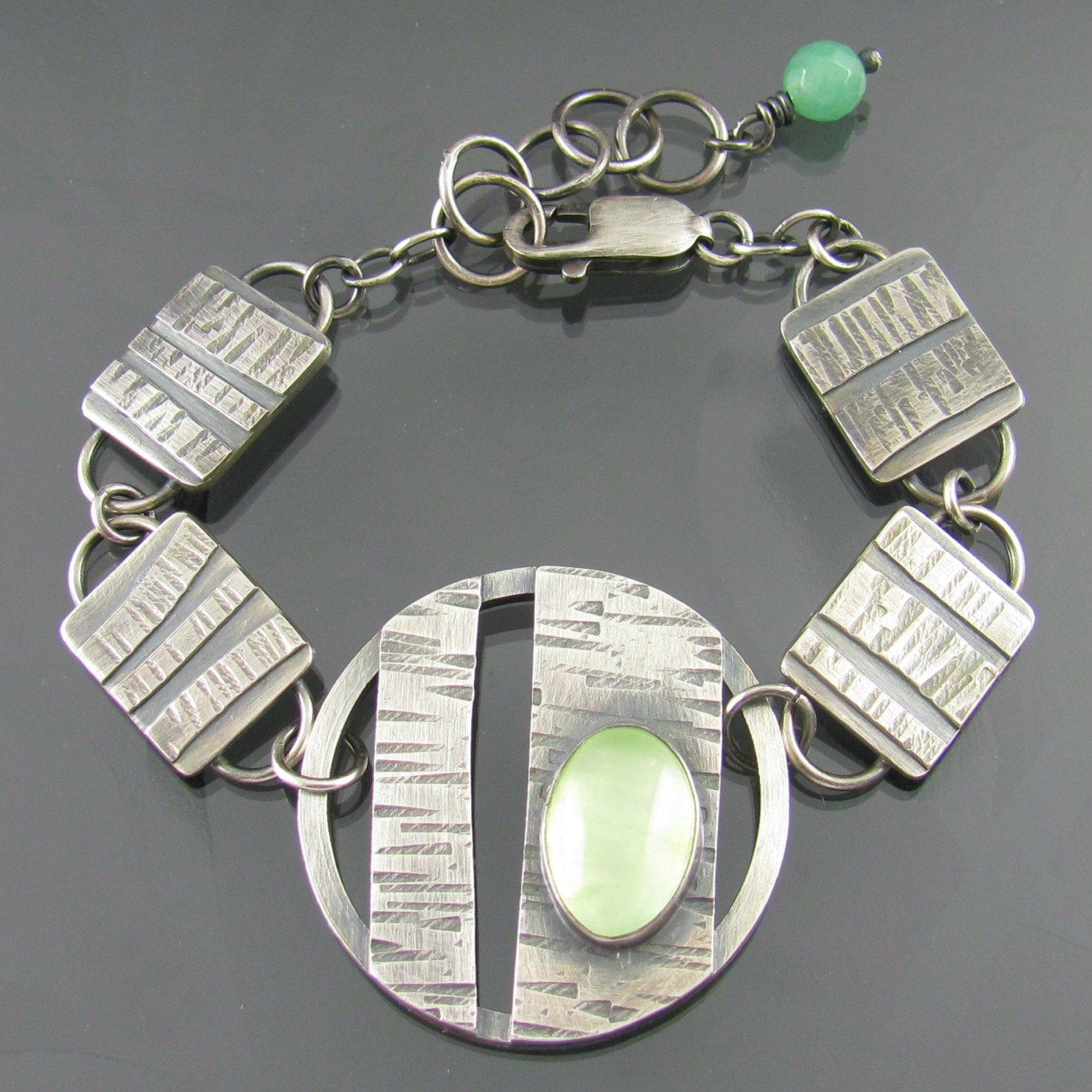 Through The Trees Sterling Silver And Prehnite Bracelet Tree
