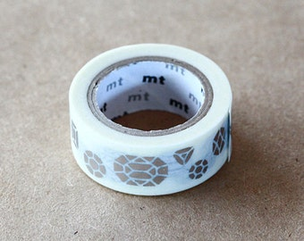 Jewelry - Japanese Washi Masking Tape - mt fab - Adhesive Tape, Scrapbooking, Collage, Gift Wrapping - Modern Abstract Design, MTHK1P01