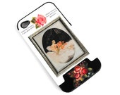 RESERVED for Roselyn - Midnight Roses iPhone 4 Case Art Deco Hollywood Regency Mademoiselle Black/White Upcycled Decoupage Cell Phone Cover