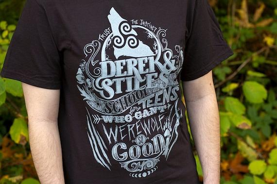 Final Print Run // Teen Wolf Shirt // Derek and Stiles School for Teens Who Can't Werewolf T-Shirt // Hand Screen Printed
