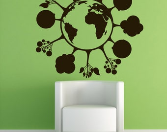 Vinyl Wall Decal Sticker Trees on Earth 1207m