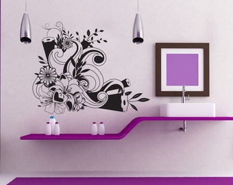 Vinyl Wall Decal Sticker Flower Design 1243s