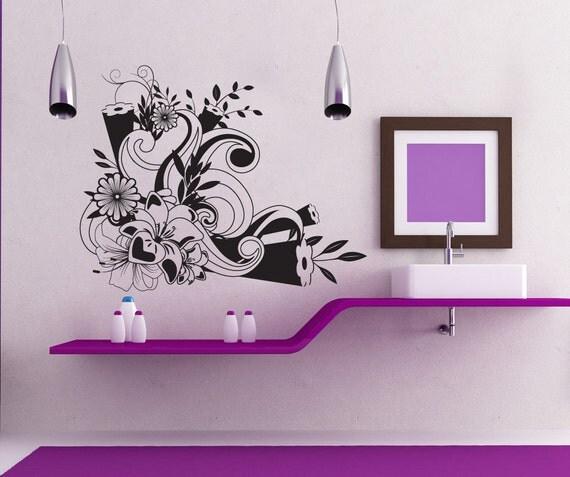 Vinyl Wall Decal Sticker Flower Design 1243s