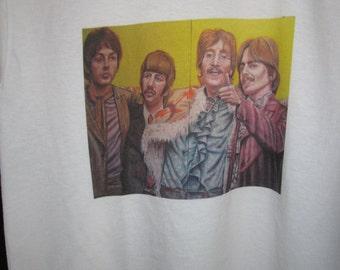 Original Beatles Art work Adult White T shirts