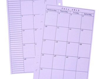 Month on 2 Pages Planner Refill