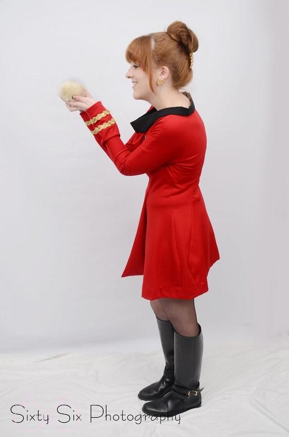 Star Trek Original Series Skant Dress, Science and Engineering Officer, Ladies Custom Costume  Cosplay